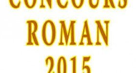 CONCOURS DE ROMAN 2015